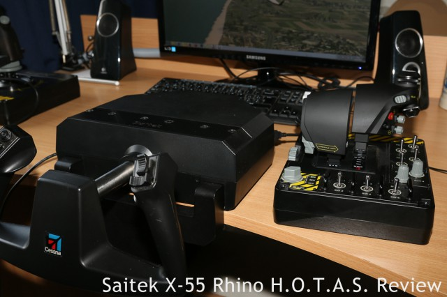 An example of one of the possibilities the separate USB-connections give you: the X-55 throttle unit plugged into the USB-hub of the Saitek Cessna Yoke. This setup worked like a charm.