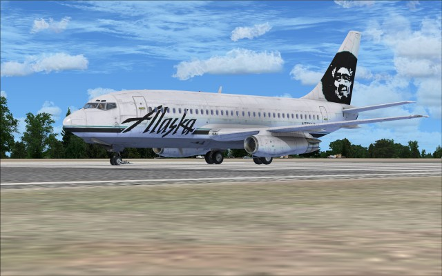 Alaska Air outfitted with the gravel kit