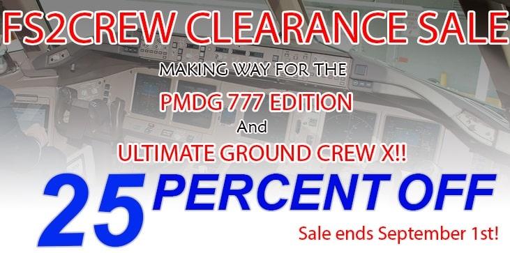 FS2Crew sale : 25% OFF