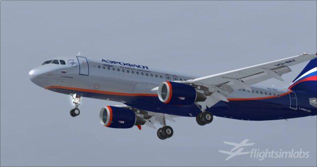 FSLabs A320-X Aeroflot preview