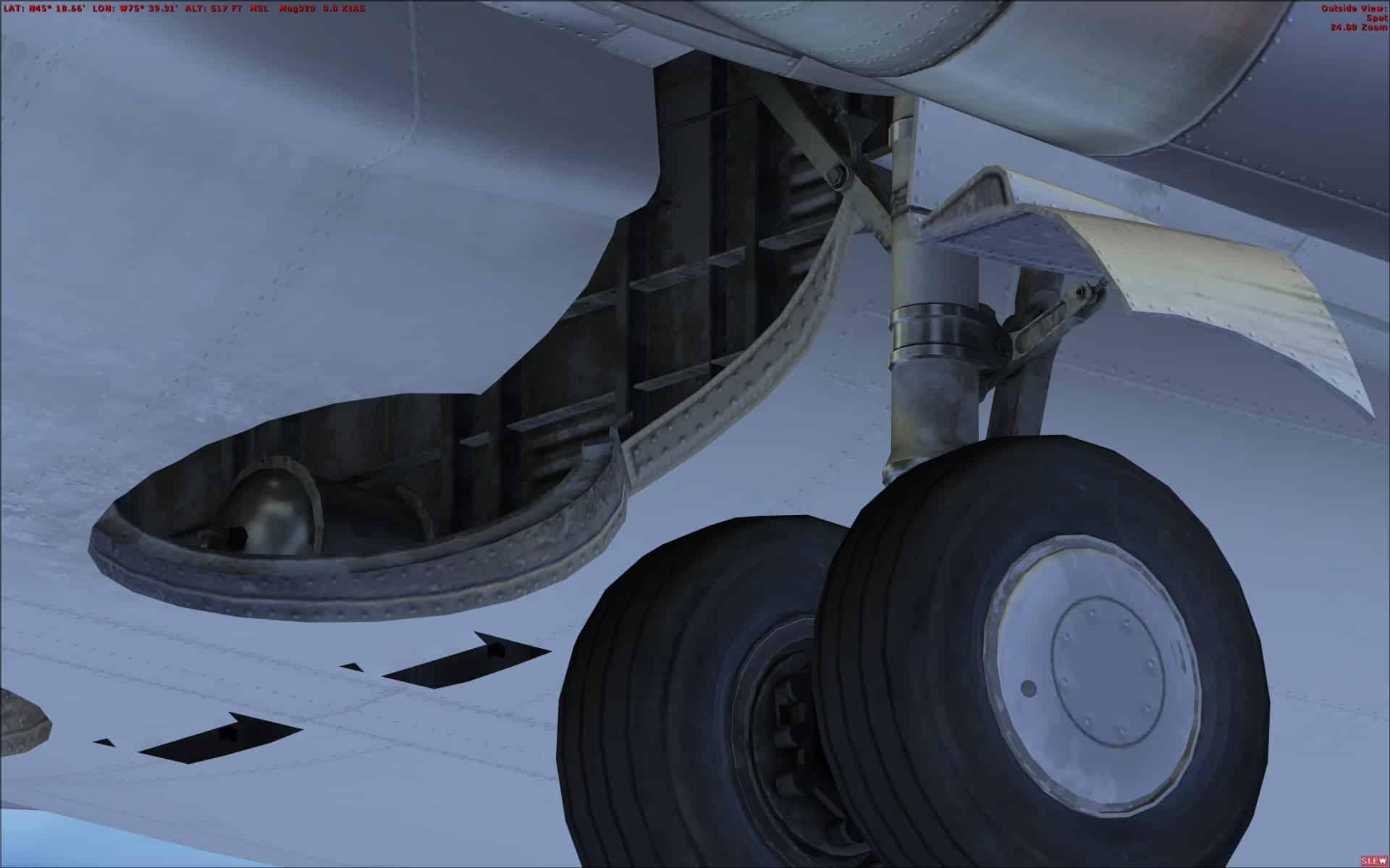 review of milviz boeing 737 200c for fsx p3dv1 the boeing 737 rh simflight com 737 Landing Gear Compartment Boeing 767 Landing Gear