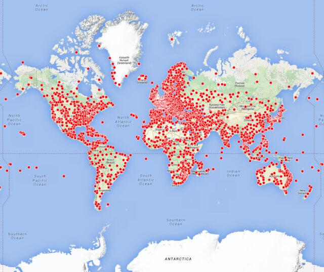 Navigraph Charts Cloud map coverage