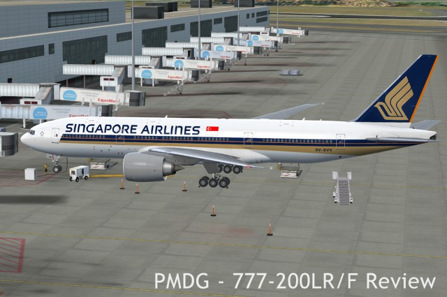 PMDG 777 Parked at the gate