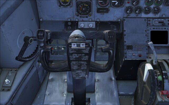 Pilot's yoke and worn floor panels