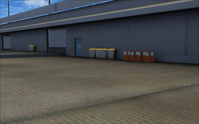 Garbage bins and safety pylons
