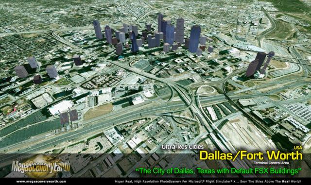 MegaScenery Earth - Ultra-res City Dallas