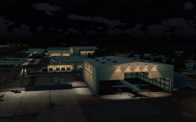 Open hangar lighting