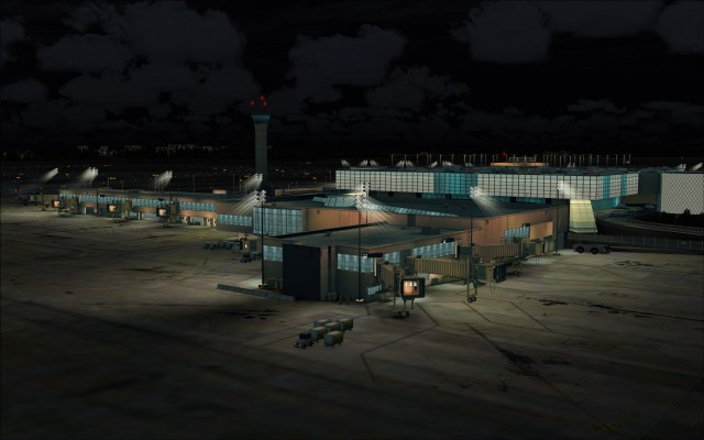 Realistic lighting effects at terminal