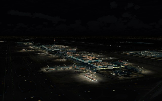 Terminal complex at night