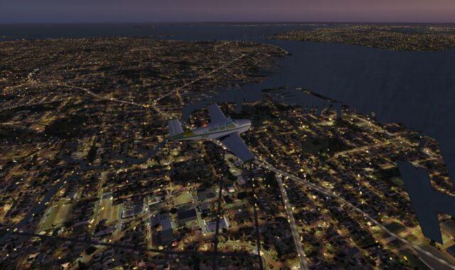 Taburet FSX Night 3D New York Washington DC
