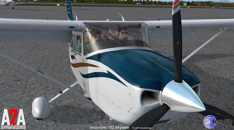 A2A Cessna 182 Skylane Accu-Sim for FSX/P3D Released