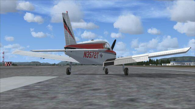 PA-28 FSX Broken Flap 01