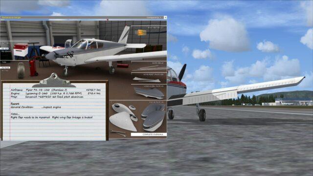 PA-28 FSX Broken Flap 02