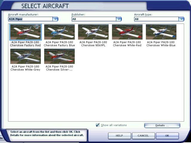 PA-28 FSX Selection