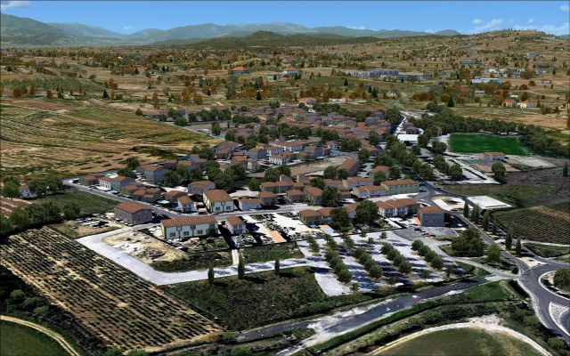 Commune of Peyrestortes north of airport