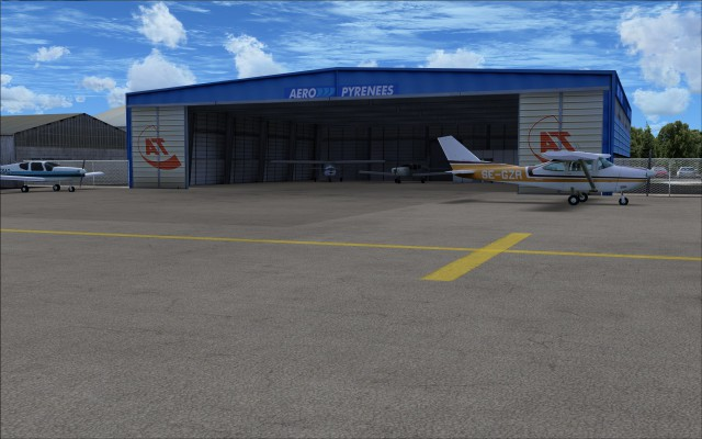 Large hangar with static aircraft
