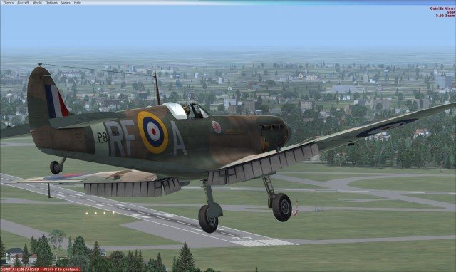 A2A Accu-Sim Spitfire in FSX:SE - image courtesy of Lewis at A2A
