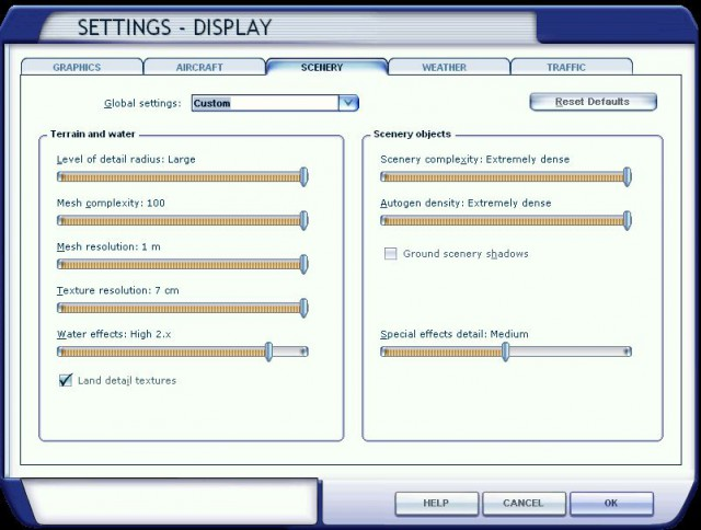 My FSX display settings