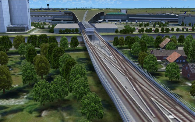 Rail link to terminal metro stations