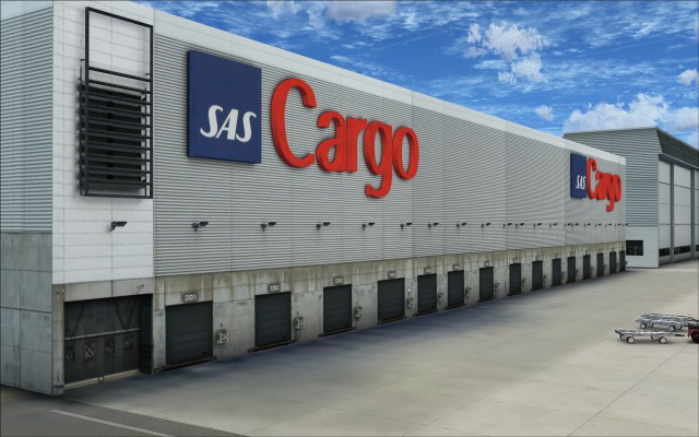 SAS Cargo building wall with plenty of intricate detailing