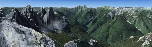 Real Earth X - Dolomiti Zoldo Pelmo 3D