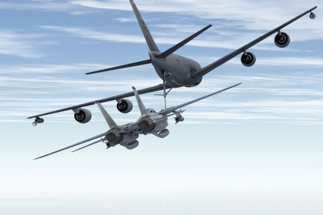 Refueling from a TacPack-spawned KC-135.