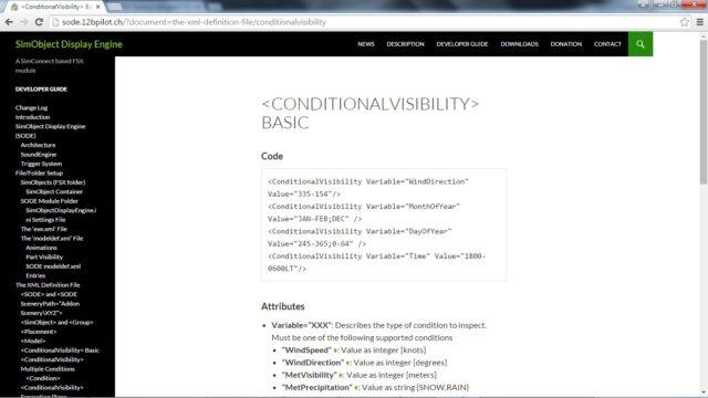 Snapshot of the SODE development documentation