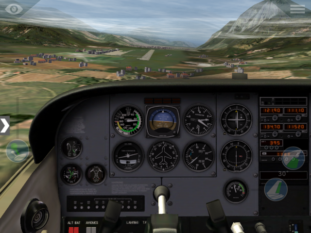 Innsbruck's ILS, sort of centred... This isn't easy, using an iPad!
