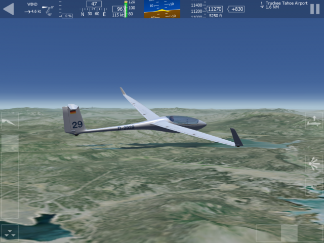 """In the AF2 glider, the """"throttle"""" controls the spoilers."""