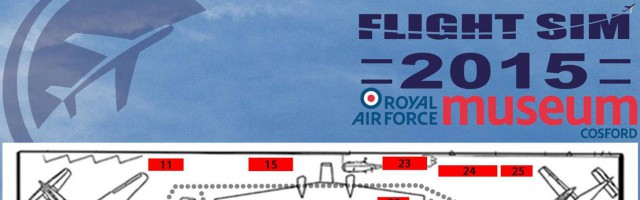 Flight Simulator Show Cosford 2015 exhibitors map