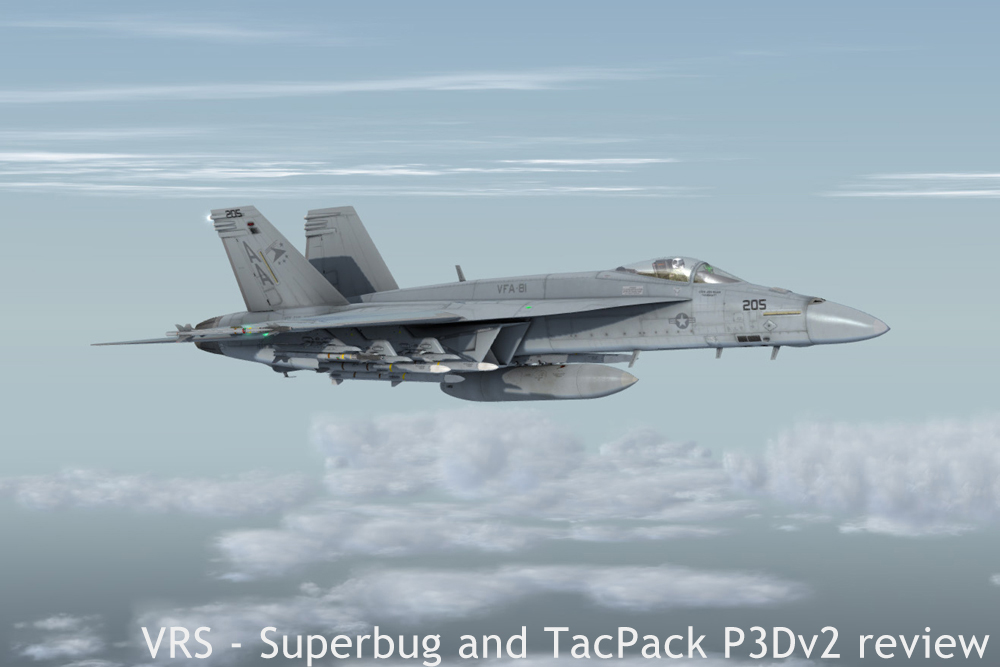 VRS – Superbug and TacPack in P3Dv2 Reviewed
