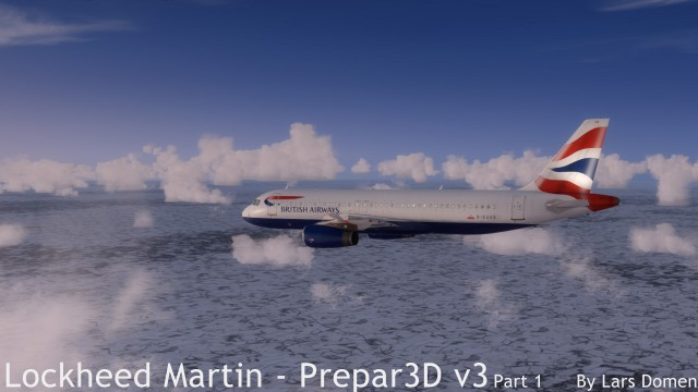 Taken at about the same time as the previous shot, this side of the sky shows a much less impressive picture. The horizon is much less harsh even at high visibility settings then it was in FSX.