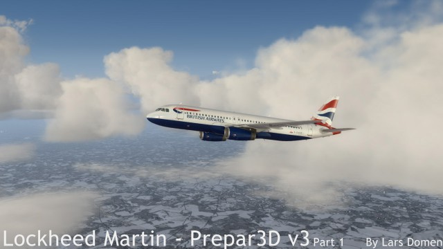 Some nice clouds in my opinion. Note that, apart from the Airbus, this is all default P3D3.