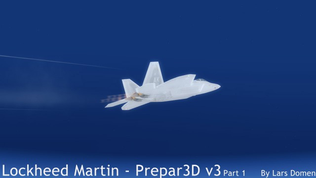 The F-22 at the top of a zoom climb at FL630. Note the washed-out, over exposed look of the aircraft in this shot. It's something the happens in this F-22 quite a lot. I haven't seen it in other aircraft.