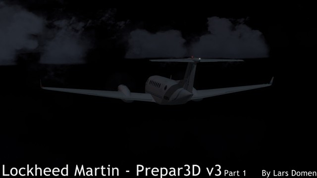 The default King Air at night over the Pacafic Ocean. Note how dark the sim is at night compared to FSX. Much more realistic.