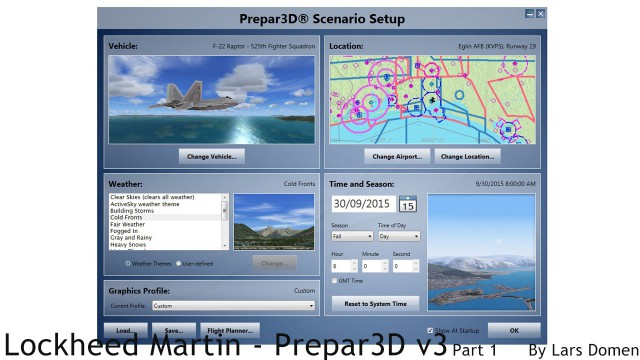 p3d3 scenario setup