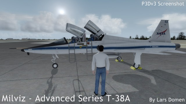 The P3Dv3 Avatar standing in front of my favourite livery: NASA!