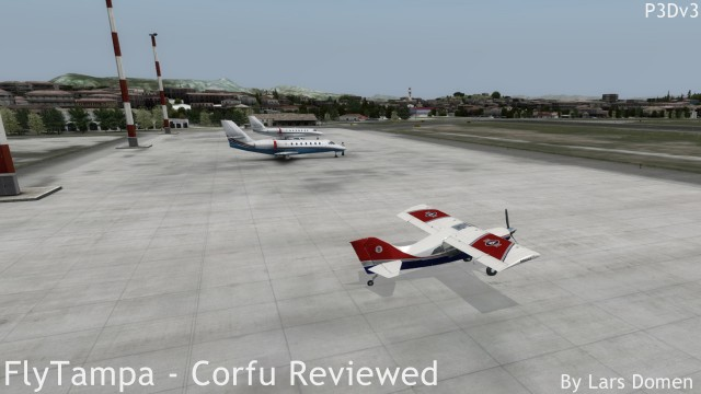 But a less demanding aircraft and more reasonable settings resulted in frame rates that hit the locked setting.
