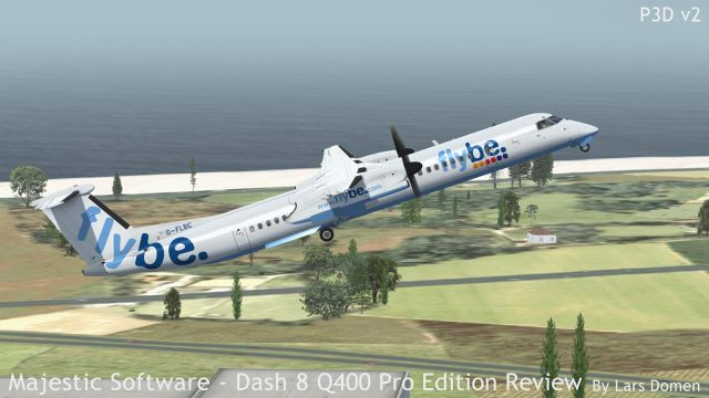 Especially when lightly loaded, the Q400 is quick to leave the ground behind.