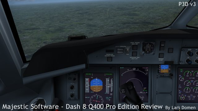 Handflying the Q400 is a joy, although getting a nice approach and good landing out if it requires some practice.