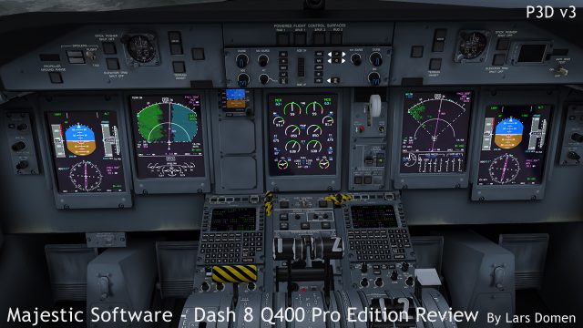 Terrain mode on the Captain's NAV display, Weather radar on the FO's side. The weather was clear though, what you see on the weather radar are ground returns from the high ground on the left of the flight plan.