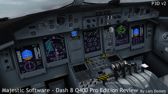 Combine the weather rader, the terrain display and a very detailed airport, and you will see an impact on frame rates.