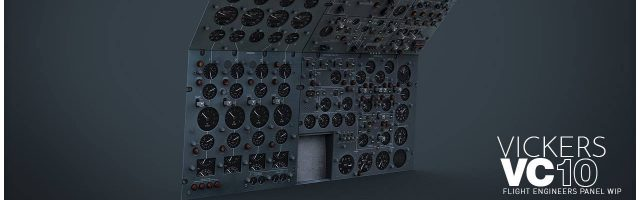 Aerplane Heaven - VIckers VC10 engineer panel WIP