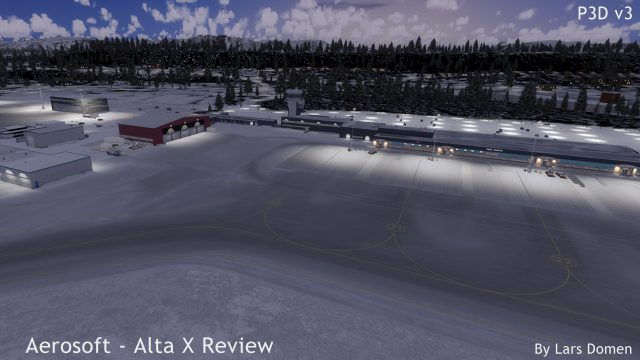 I particularly like the look of the airport covered in snow.