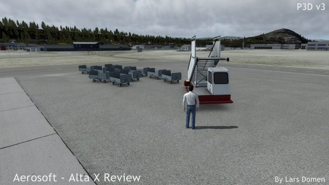 Using the P3D v3 'Avatar' to check out some of the clutter...