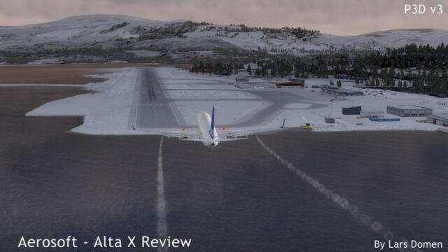 Approaching runway 11.