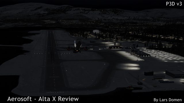 Leaving the airport at night.