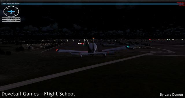 When it's really night time according to the simulator, it does get really dark. Good.