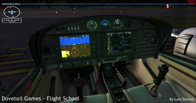 The DA-42 uses the well-known G1000 Glass Cockpit which we first saw in FSX Deluxe.