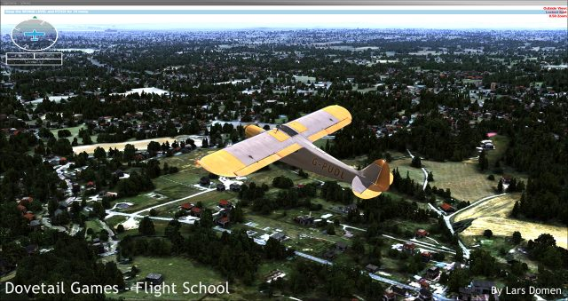 In this aircraft, the journey in the world of Flight Simulation begins in Flight School.